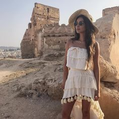 Love Shay Mitchell's summer outfit. Such a cute white dress.