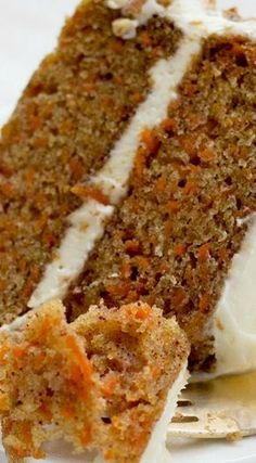 The very best homestyle carrot layer cake with cream cheese frosting.