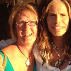 Steven Tyler & Veronica - saw him in Maui - he was the coolest person!