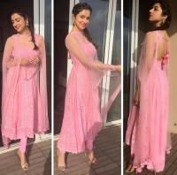 Divya Khosla Kumar is every bit of a diva and her immaculate sense of fashion proves it. Check out some of her best looks. Punjabi Dress, Anarkali Dress, Pakistani Dresses, Indian Dresses, Indian Outfits, Punjabi Suits, Anarkali Suits, Anarkali Churidar, Indian Clothes