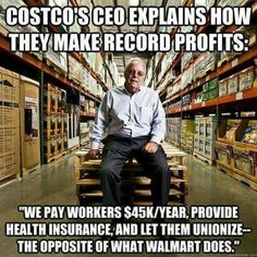 Addicting Info – Socialism, Anyone? Profits Soar For Costco Days After CEO Endorses Minimum Wage Hike Lol, Thats The Way, Faith In Humanity, Health Insurance, Social Issues, Good People, Smart People, Amazing People, Just In Case