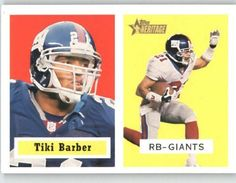 2002 Topps Heritage #151 Tiki Barber SP - New York Giants (Short Print) (Football Cards) by Topps Heritage. $1.72. 2002 Topps Heritage #151 Tiki Barber SP - New York Giants (Short Print) (Football Cards)