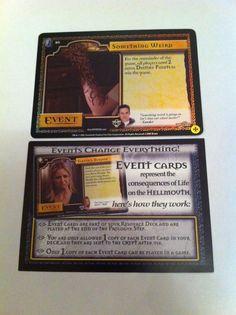Buffy Vampire Slayer CCG Event Something Weird Shiny & Advert 2002 Trading Cards