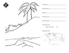 Create your own Dinosaur worksheet for Wolf Requirement Digging In the Past Requirement 2