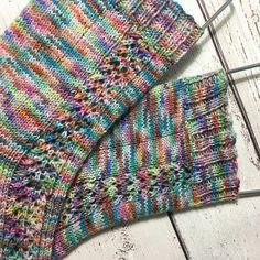 Ravelry: Let It Shine Socks pattern by Sarah Youde Crochet Socks, Knit Or Crochet, Knitting Socks, Hand Knitting, Knitting Patterns, Knit Socks, Knitting Videos, Patterned Socks, How To Purl Knit