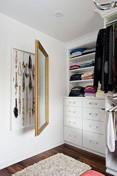 Hidden jewelry cabinet