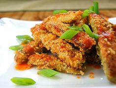 Sesame Eggplant with Sriracha-Honey Drizzle (grain free) #SeasonalandSavory