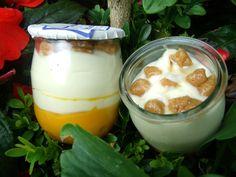Yogur, chocolate blanco, calabaza, turón