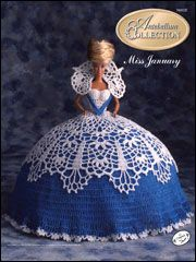 Bed Doll Collection - The Antebellum Collection - Miss January 1991 - Crochet Cotton Thread