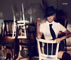 pencil skirt, Dior, Melanie Laurent for Marie Claire Russia