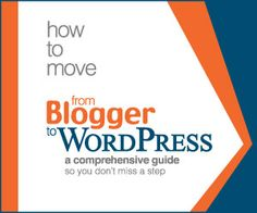 Best Ebook to help you understand how moving from Blogger to Wordpress works and that guides you step by step on  how to move your blog to Wordpress yourself.