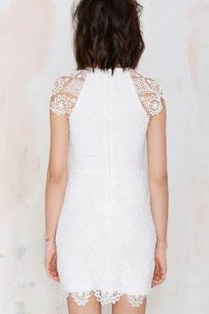 Levina Lace Dress - White
