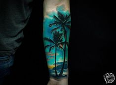 Photo tattoo Valery Drew – Different tattoos on the forearms – tattoos for women half sleeve Half Sleeve Tattoos Color, Tattoos For Women Half Sleeve, Half Sleeve Tattoos Designs, Tattoo Designs And Meanings, Tattoos For Guys, Ocean Sleeve Tattoos, Tropisches Tattoo, Surf Tattoo, Type Tattoo