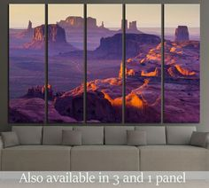 Sunset over the Hunt's Mesa №2690 Framed Canvas Print