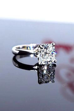 24 Brilliant Cushion Cut Engagement Rings ❤ See more: http://www.weddingforward.com/cushion-cut-engagement-rings/ #wedding #engagement #rings