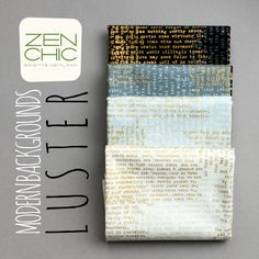 the typewriter prints from the fabric collection Modern Backgrounds LUSTER by Zen Chic for Moda
