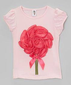 Pink Big Flower Tee - Infant & Girls