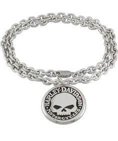 Harley Davidson Mens Willie G Skull 925 Sterling Silver Chain Necklace       I want this