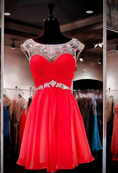2016 Homecoming Dress, Red Homecoming Dresses, Fashion Homecoming Dress Short Prom Dress pst1373 on Storenvy