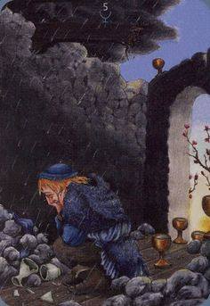 Five of Cups - Anna.K Tarot by Anna Klaffinger