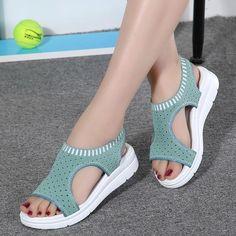 889244fdd Women's Sandals-2018 Summer Platform Breathable Comfort Walking Sandals  Связанная Крючком Обувь, Связанные Крючком