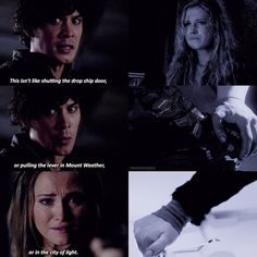 """#The100 4x11 """"The Other Side"""" - Bellamy and Clarke"""