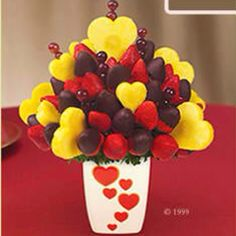 Edible arrangements. (I've received this very one before :))