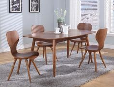 scandinavian extendable dining table