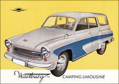 Wartburg 1962 East German Car, Advertising History, Veteran Car, Car Brochure, Work Horses, East Germany, Camping, Car Car, Vintage Advertisements