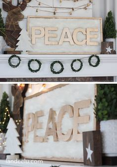 DIY Faux Fur Peace S