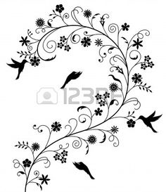 Free clip art black and white flowers flower flourishes clipart illustration of hummingbird and flowers vector art clipart and stock vectors mightylinksfo