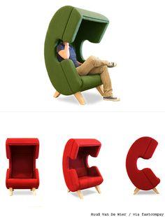 전화 받기 좋은.... 통화 전용 의자 '이색 디자인'