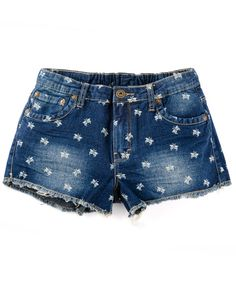 S Erfly Denim Shorts Dark Blue Summer Beach Urban Uk