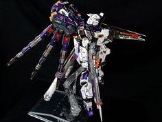 """G-System 1/72 RX-93-v2 HI NU GUNDAM """"ANARCHY"""" - Painted Build w/ LEDs Modeled by Seth Tuna"""