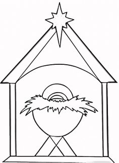 Christian Christmas Coloring Page Super