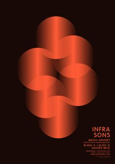 Vincent Menu - INFRASONS (2012)  -> image qui véhicule un son par la superposition des cercles dégradés