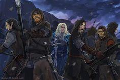 Finrod and the Edain, Fen of Serech. http://dakkun39.tumblr.com/post/90847961818/finrod-the-silmarillion
