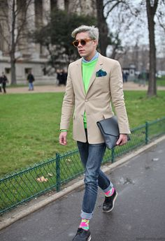 On the streets of Paris #fashion #streetstyle #menswear