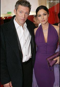 Monica Bellucci (en Dior) et Vincent Cassel posent aux César du Cinéma 2009.