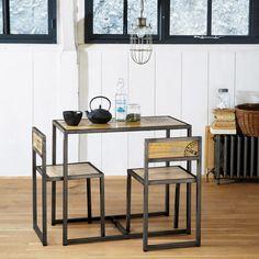 Set: Tisch + 2 Stühle