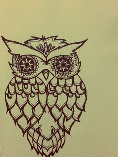 owl drawing By: EnidLisa (Me)
