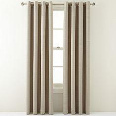 MarthaWindow Hampton Basketweave Grommet-Top Curtain Panel