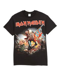 Loving this Black Iron Maiden The Trooper Tee - Men on #zulily! #zulilyfinds