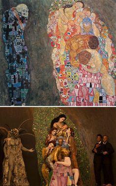 Les Tableaux de Gustav Klimt recréés par Inge Prader (1)