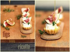 Mini tartlets with figs, ricotta, honey & thyme