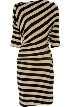 Vivienne Westwood Anglomania Arianna striped stretch-linen dress