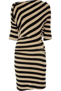 Black-striped dress
