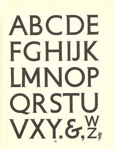 Petit-serif typeface, 1929 / Percy Smith for use by the London Underground Group