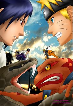 Naruto vs Sasuke by uzumakitsune on DeviantArt