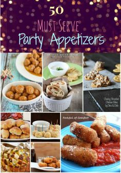 50 Must Serve New Year's Eve Appetizers & Party Food. A collaboration of delicious party appetizer recipes good for any occasion! Not just New Years New Year's Eve Appetizers, Finger Food Appetizers, Yummy Appetizers, Appetizer Recipes, Party Appetizers, Party Food And Drinks, Party Snacks, Tapas, Sandwiches